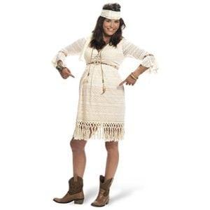 Kostüm Hippiegirl für Schwangere