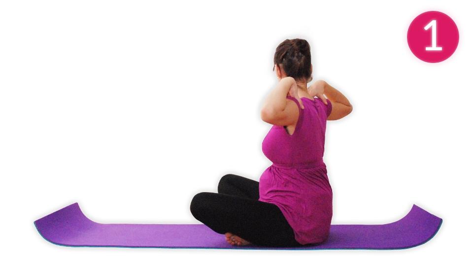 Anleitung für die Yogaübung Sitzkreisen (Bild 1)