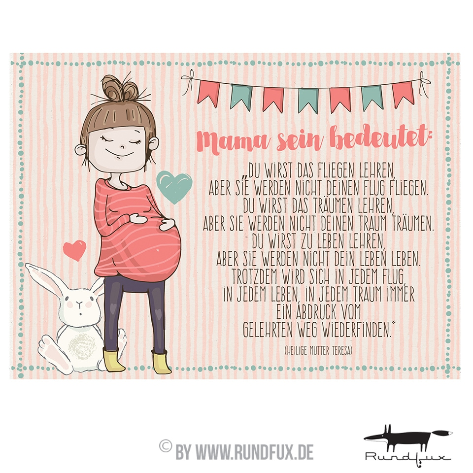 Illustration zeigt eine zufriedene Hochschwangere.