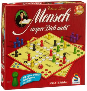 """Spiel mit Namen """"Mensch ärgere dich nicht!""""."""