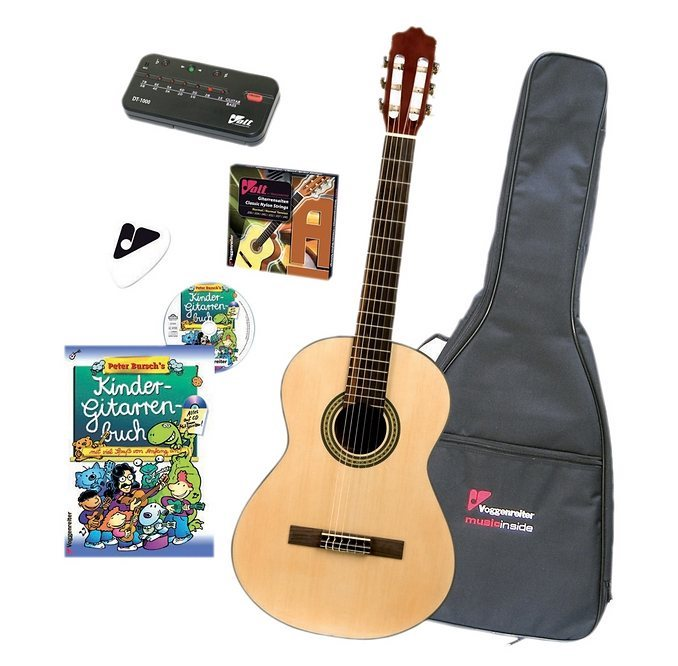 Gitarrenset für Kinder als Musikinstrument.