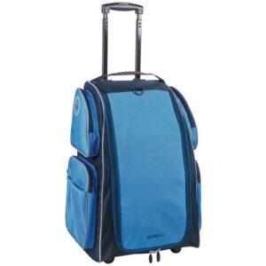 Der Koffer hat vier seitliche Fächer mit Netzeinsatz.