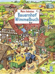 Ein Wimmelbuch über den Bauernhof.