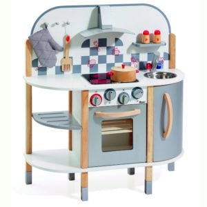 Ein Holzspielzeug für zukünftige Chefköche: die Kinderküche aus Holz von howa.