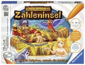 """Zum Zahlen lernen eignet sich für Kinder ab 5 Jahren das Lernpspiel """"tiptoi - Das Geheimnis der Zahleninsel""""."""