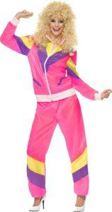 Das Bild zeigt einen pinkfarbenen Jogginganzug.